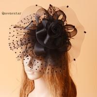 Wedding Dot Hair Clip Bride White Purple Flower Pillbox Hat Headpiece Fancy Party Dinner Vintage Ladies