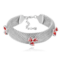Snake Chain Bracelet With AAA Cubic Zircon Top Quality Fashion Bracelets For Ladies White K Plated Women Costume Jewelry 3 Color