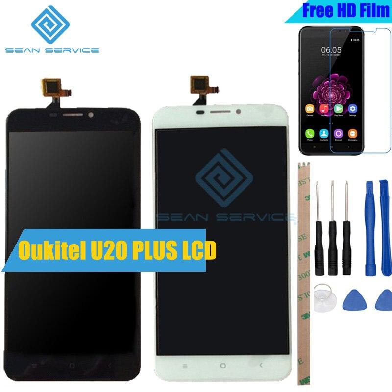 Pour Oukitel U20 PLUS LCD D'origine Display + TP Écran Tactile Digitizer Assemblée 5.5 U20 Plus Testé Digitizer Panneau remplacement