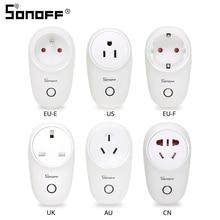 "Sonoff בסיסי Sonoff S26 WiFi אלחוטי חכם שקע CN/AU/האיחוד האירופי/בריטניה/ארה""ב Plug בית חכם מתג כוח שקעי לעבוד עם Alexa Google"