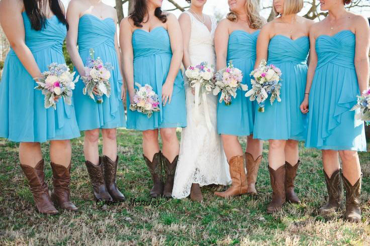 Free Shipping Country Style Bridesmaid Dresses Short 2017 Modest ...