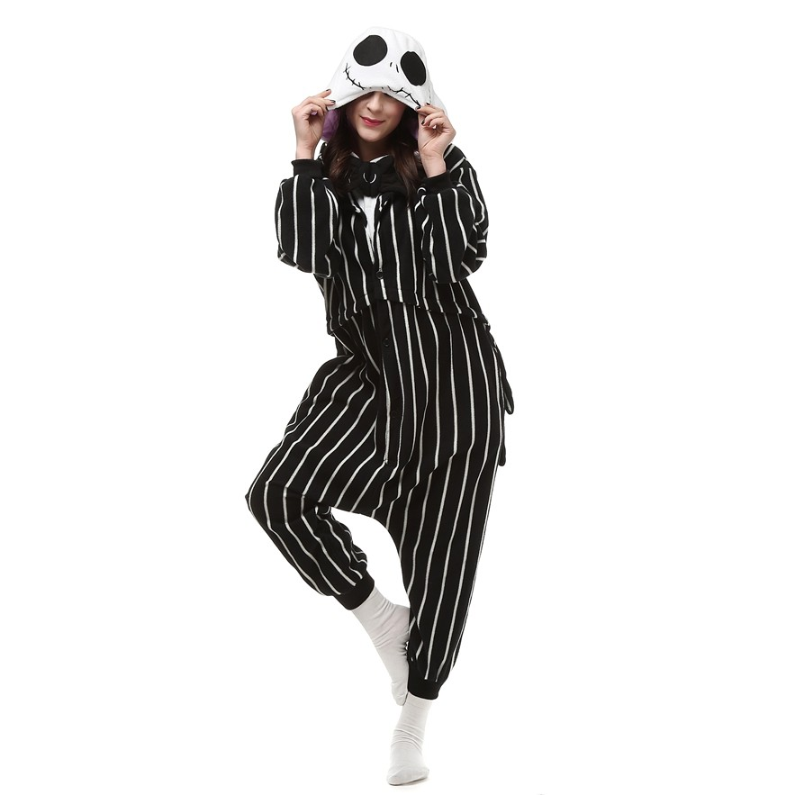 298417e42c Cosplay Anime The Nightmare Before Christmas Jack Skellington Skeleton  Costume Onesie Party Christmas Pajamas Plus Size S XL on Aliexpress.com