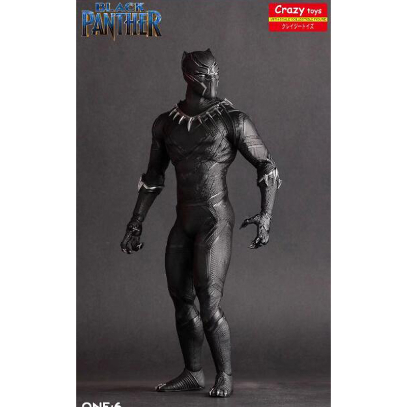 цены 26cm Crazy Toys Black Panther Figure Civil War Avengers Ant-Man Black Panther PVC Action Figures Toys Doll Brinquedos