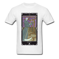 Classical Art T Shirts For Adult Death Tarot 2018 Hip Hop Band Mens Fashion T Shirt
