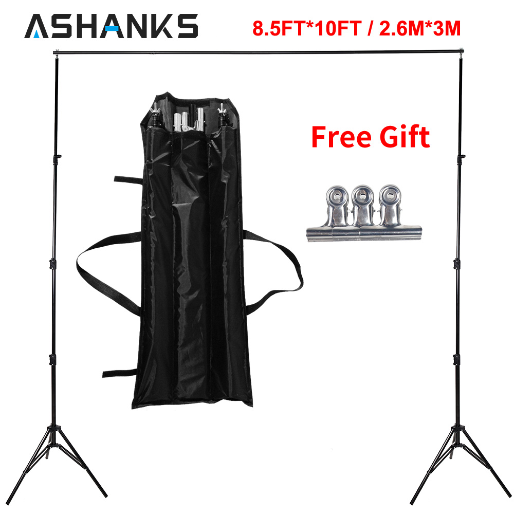 ASHANKS 8.5ft*10ft Background Stand Pro Photography Video Photo Backdrop Support System for Fotografia Studio with Carrying Bag