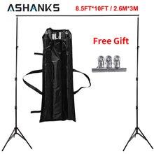 Ashanks 8.5ft * 10ft 배경 스탠드 프로 사진 비디오 사진 배경 지원 시스템 사진 스튜디오 운반 가방