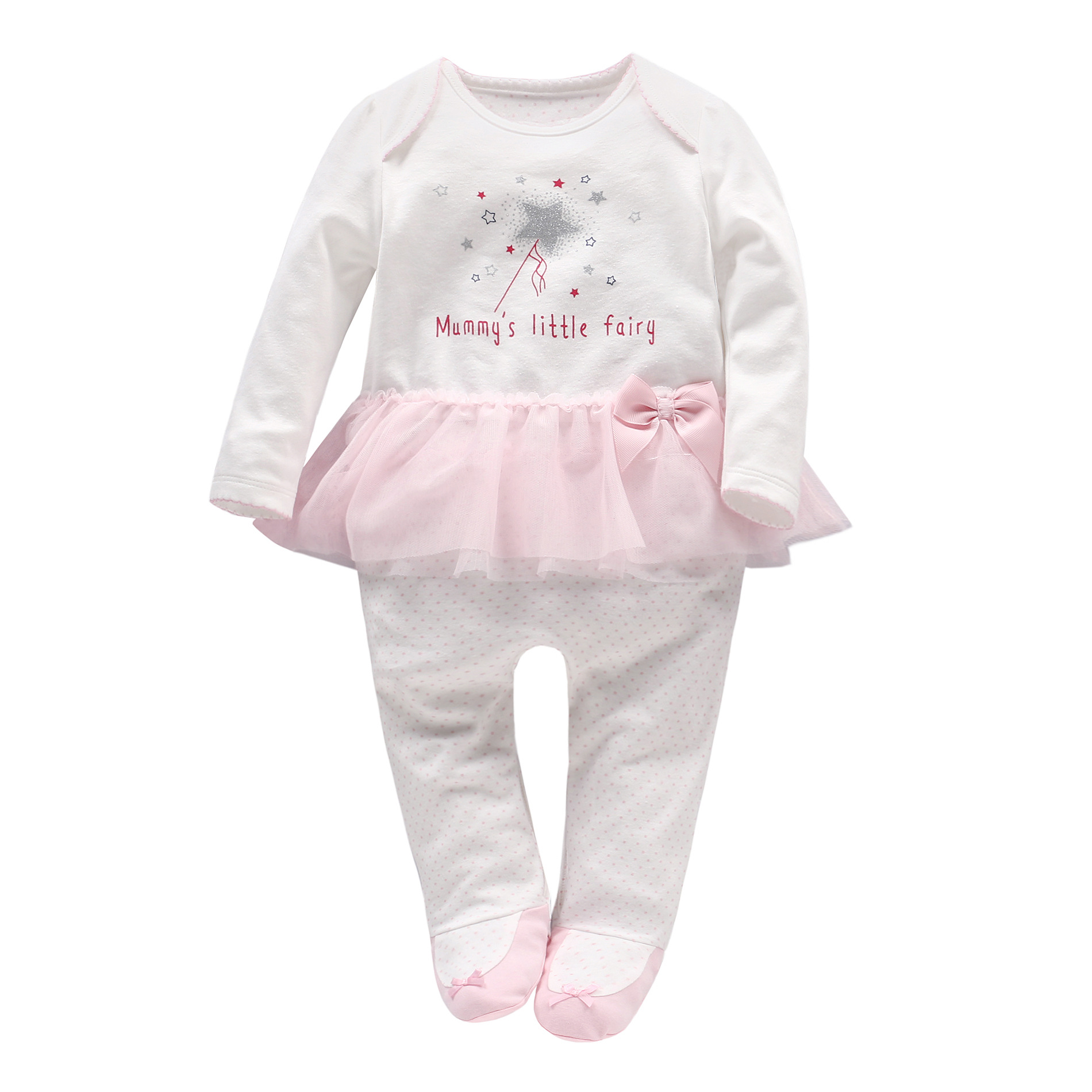 2018 Spring one piece Baby Clothes Baby Girl Bow knot Pink ...