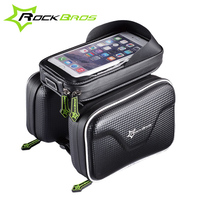 ROCKBROS Bicycle Frame Front Head Top Tube Bag Waterproof Double IPouch Cycling Pouch For 6 0