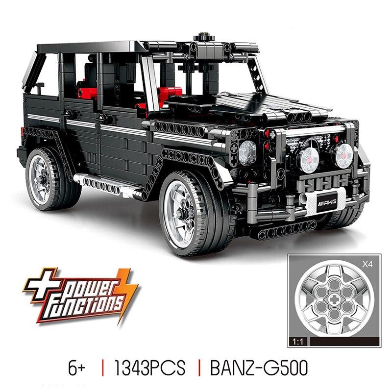RC Motor Technic MOC 2425 SUV G500 AWD Wagon voiture ensembles blocs de construction enfants garçons jouets cadeaux Compatible Legoing 1343 pièces