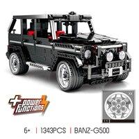 RC Motor Technic MOC 2425 SUV G500 AWD Wagon Car Sets Building Blocks kids boys Toys Gifts Compatible Legoing 1343PCS