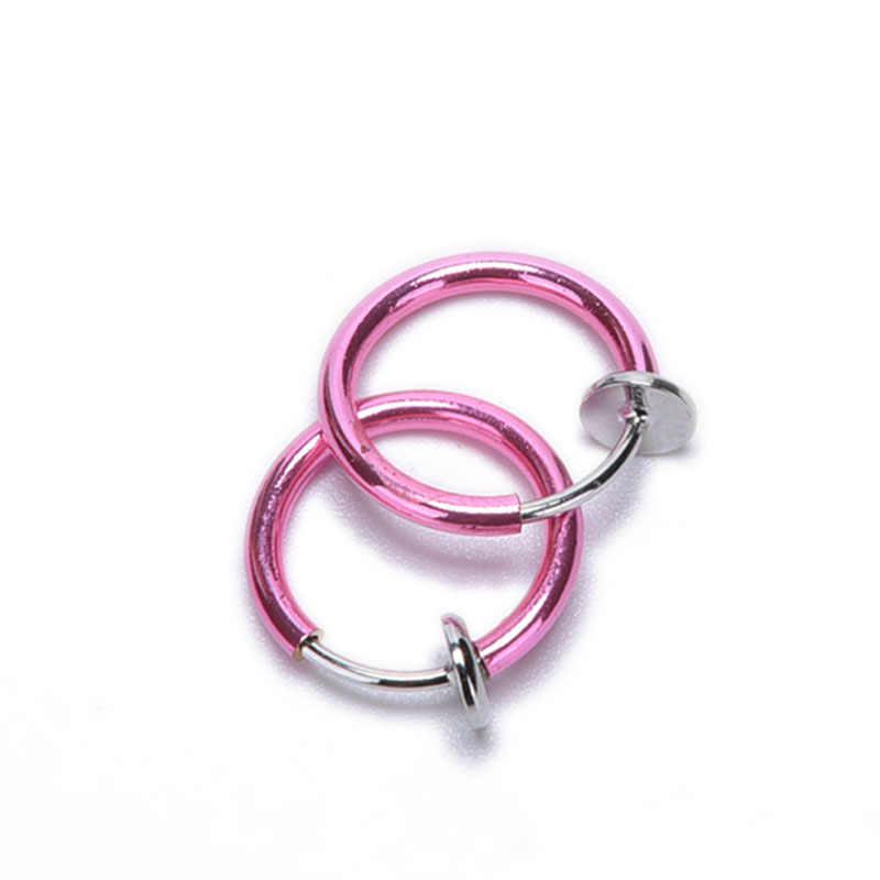 2ชิ้นUnisexลิ้นแหวนชาวเยอรมันพังก์C Lip Onปลอมเจาะร่างกายจมูกปากแหวนห่วงหูลิ้นแหวนวันวาเลนไทน์ขายส่ง