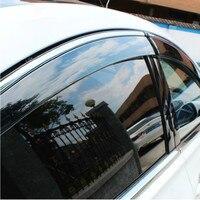 4 pçs/set 2005-2010 Cerato Vento Chuva/Sun Visor Ventilação Guardas  Mapas & Abrigos para Kia Cerato