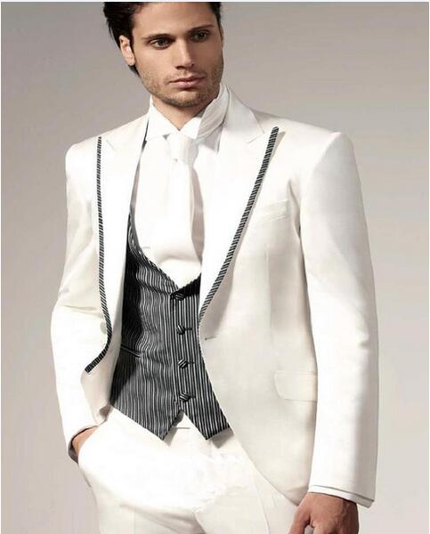 White Fitted Suits Promotion-Shop for Promotional White Fitted ...