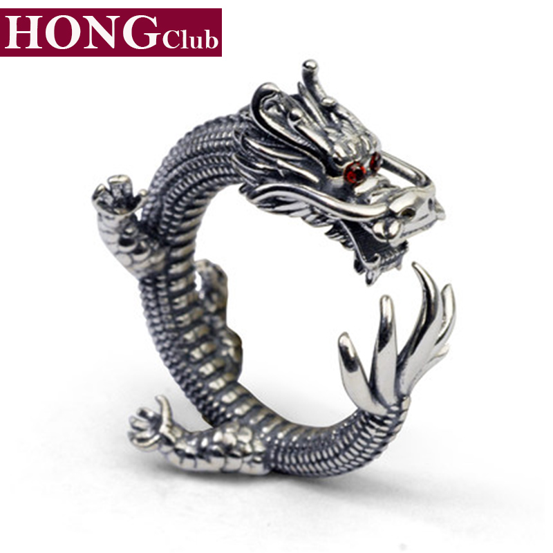 Dragon Ring 100% Real 925 Sterling Silver Fashion Jewelry