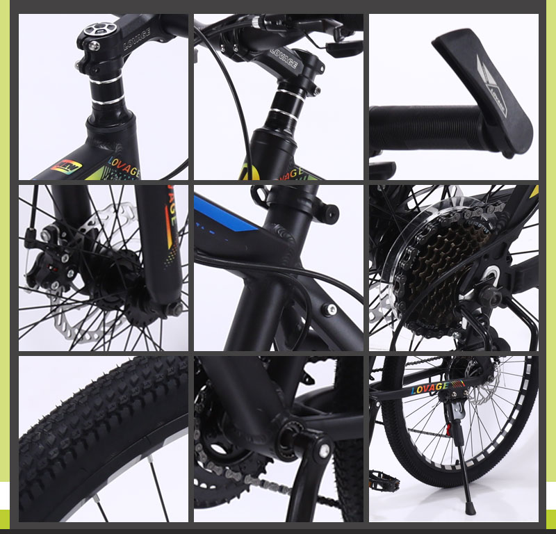 HTB1BVElXQCy2eVjSZPfq6zdgpXaJ wolf's fang New Mountain Bike Bicycle 26 inches 21speed Fat bike Aluminum alloy frame Road bikes Spring Fork Front and Rear