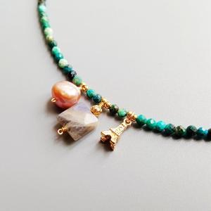 Image 2 - LiiJiที่ไม่ซ้ำกันChrysocolla Labradorite Baroque Pearl Bohemianผู้หญิงNeclacece Iron Tower Charms 925เงิน