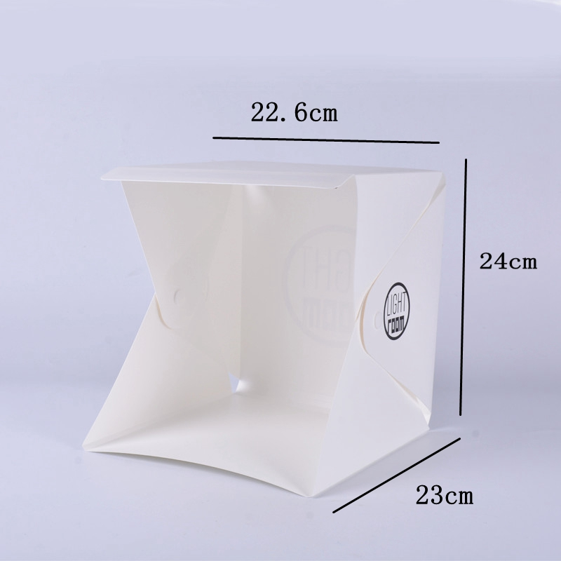 Image 5 - Baolyda 20 LED Mini Studio Photo Box 24cm Light Box for Photography Box Folding Lightbox Whitebox Photobox-in Tabletop Shooting from Consumer Electronics