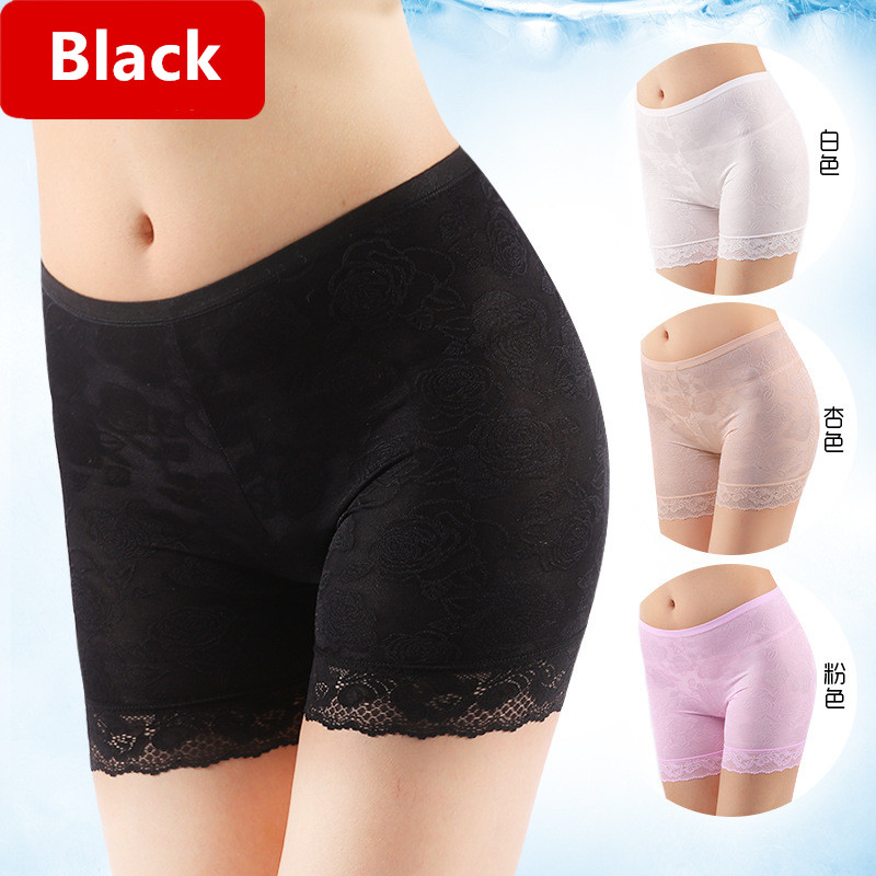 High Quality Safety Short Pants Lace Underwear Leggings Women   Panties   Black White Shorts Sexy Women's   Panties   For Lady L-4XL