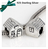 1 Pc Lot New 925 Sterling Silver Lovely House Charms Gift For Mother S Day Accessories