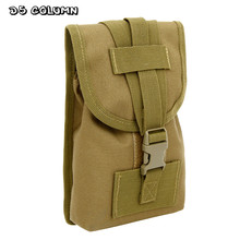 цена на Outdoor Molle Military Tactical Waist Pack Bags Travel Sport Casual Waist Pack Purse 6 Inch Mobile Phone Belt Bag