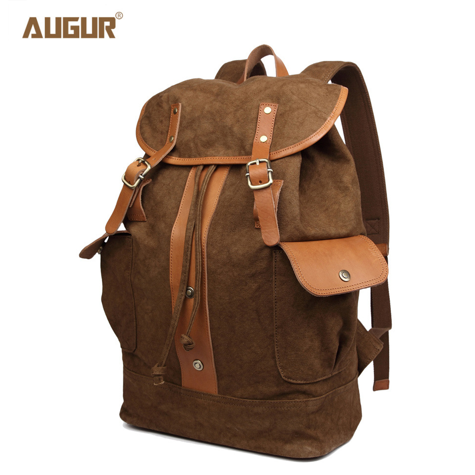 AUGUR New Vintage Men Backpack High Quality Canvas School Bags For Teenagers Large Capacity Travel Laptop Schoolbag Backpacks 2017 vintage men women canvas backpacks school bags for teenagers boys girls large capacity laptop backpack fashion men backpack