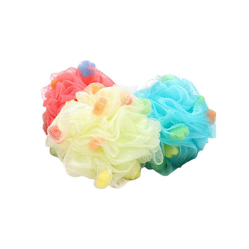 Bath 5pcs Mesh Pouf Bath Sponge Loofahs Large Mesh Exfoliating Shower Ball Shower Sponge D30
