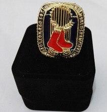 2013 Boston Red Sox de La Liga Mayor de Béisbol de Aleación de Zinc chapado en oro Personalizado Deportes Anillo de Campeón de Réplica Con Cajas De Tela