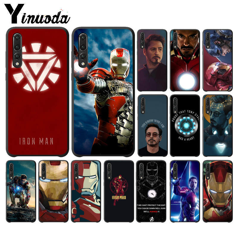 Yinuoda <font><b>Marvel</b></font> Iron man Stark High Quality Phone Case for <font><b>Huawei</b></font> <font><b>P10</b></font> plus 20 pro P20 <font><b>lite</b></font> mate9 10 <font><b>lite</b></font> honor 10 view10 <font><b>Cover</b></font> image