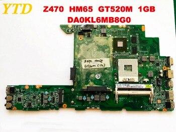 Оригинальная материнская плата для ноутбука lenovo Z470 Z470 HM65 GT520M 1 ГБ DA0KL6MB8G0 протестирована, бесплатная доставка