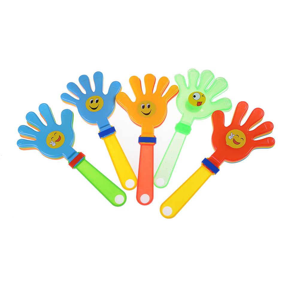 1 Pcs Fashion Colorful Hand Soccer Football Games Maker Cheering Trumpet For Children Clap Toys image