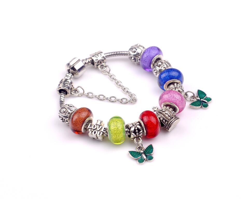 aliexpress hot sale romantic kpop butterfly pendant colorful beads christmas xmas new year gift for font