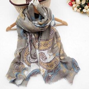 Image 4 - 女性の綿のスカーフ春女性のショール薄型夏エスニックスタイルの女性教徒ヘッドスカーフスカーフ秋