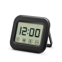 Touch Sensor Digital Kitchen Timer Large LCD Display Magnetic Backing Loud Clock Retractable Stand Kitchen Cooking