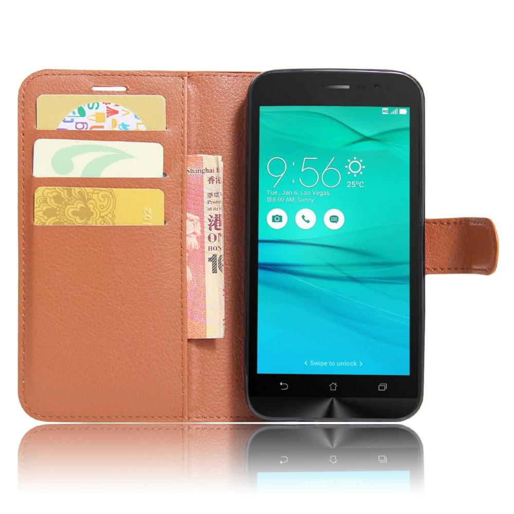 Asus ZenFone Go ZB500KL ZB500KG PU ZenFone Go ZB500KL üçün Qapaq - Cib telefonu aksesuarları və hissələri - Fotoqrafiya 2