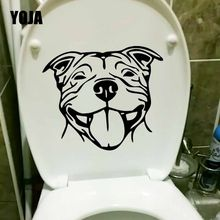 YOJA 22.6X19.1CM Staffy Staffordshire Bull Terrier Staffie Dog Toilet Decal Wall Sticker Home Decor T5-1417(China)