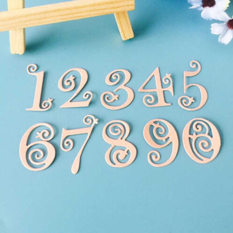 1pc Silver Number Lace Circle Numbers Metal Dies Scrapbooking Metal Cutting Dies 2018 Craft Die-cut Card Making Frame Template