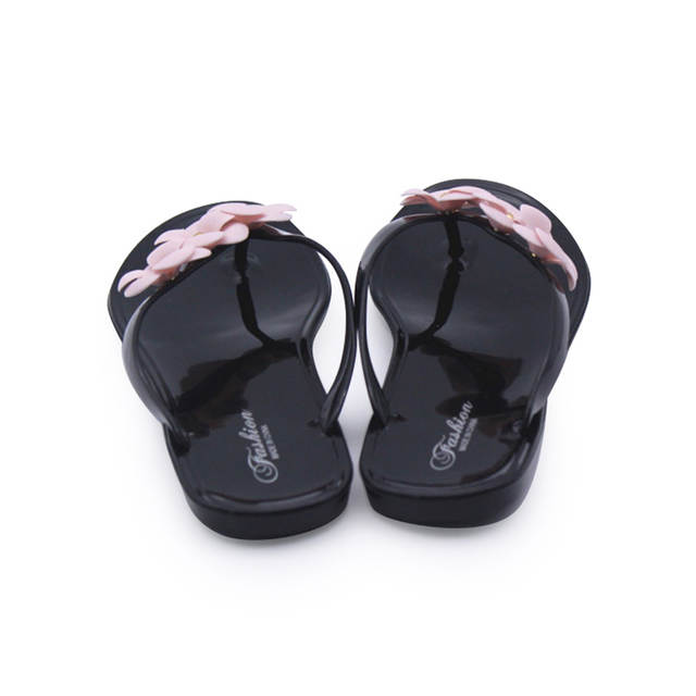 db4deb1ca63ab Cresfimix women cute transparent crystal jelly sandals shoes lady cool pink  beach flip flops female flower