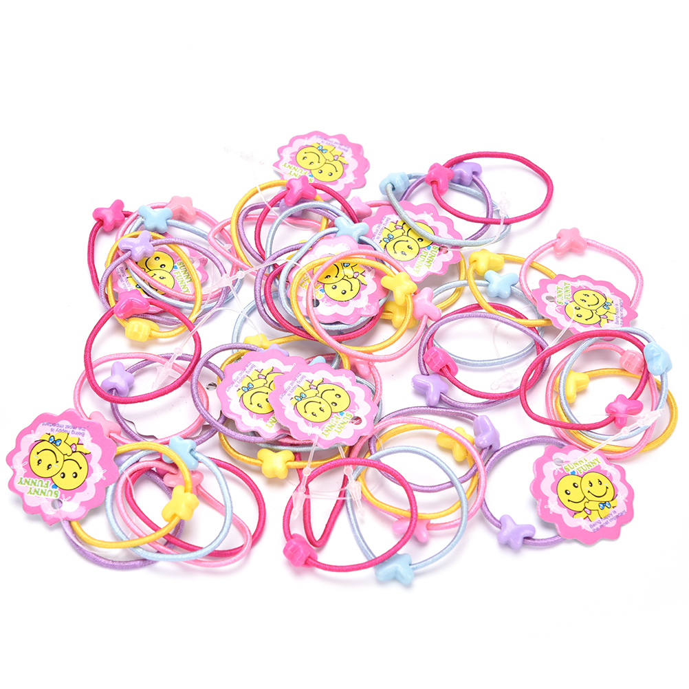 50pcs Lot Cartoon Baby Headband Children Elastic Hair