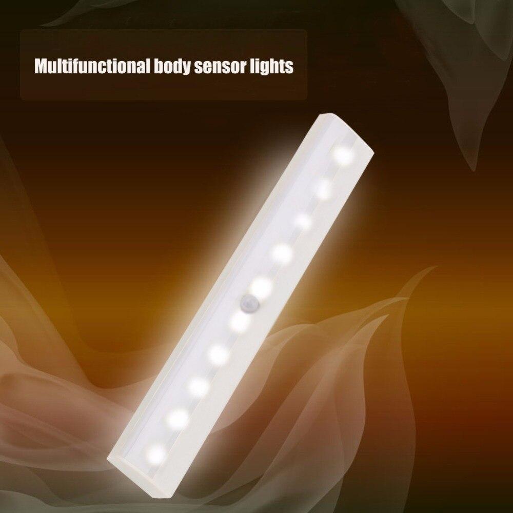Paw Light IR Infrared Motion Detector Sensor Night Light Lamp 10LEDs Step Lights