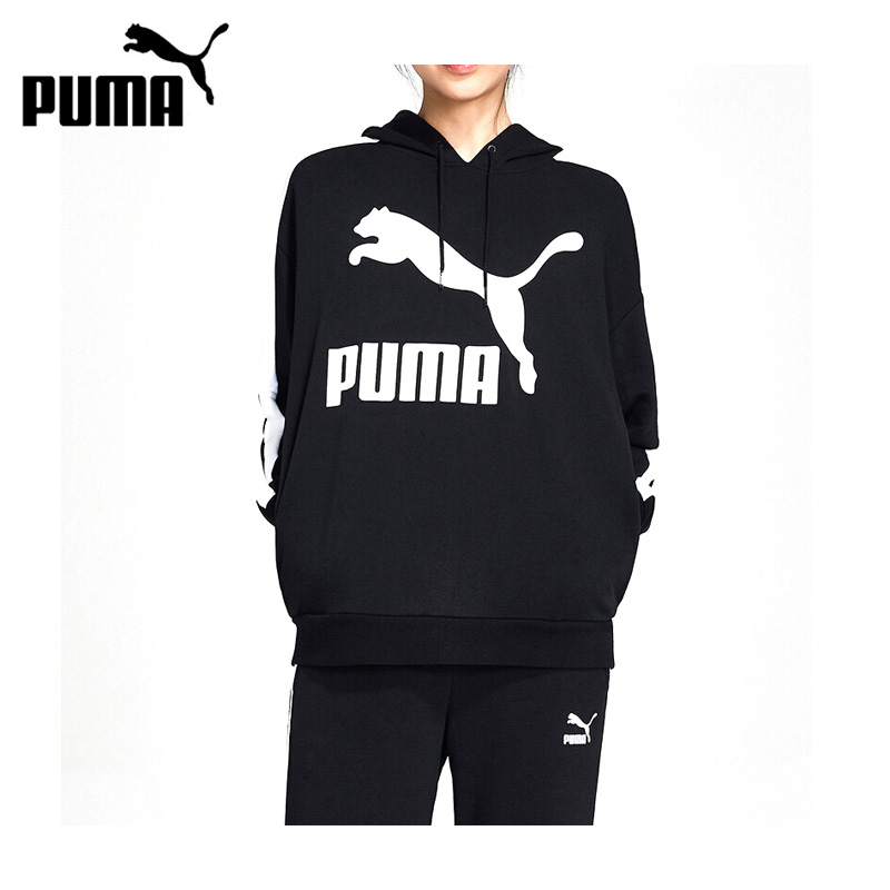 Original New Arrival 2019 PUMA Classics Logo T7 Hoody Women's  Pullover Hoodies Sportswear