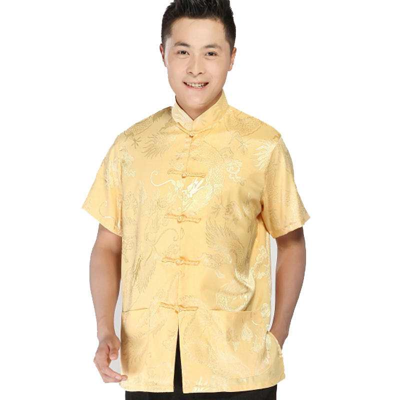 d58fe781ce2ac Oriental Element 100% Brand New Arrival Chinese Traditional Men s Silk  Dragon Kung Fu Shirts Tops S M L XL XXL 3XL MS062603-in Casual Shirts from  Men s ...