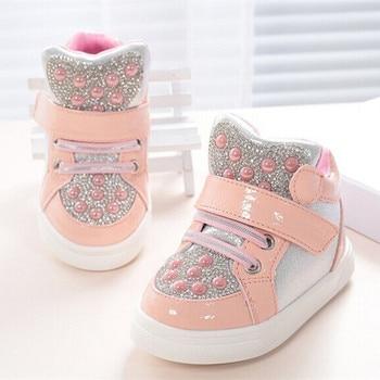 Koovan Children Sneakers 2019 New Fashion Boots Rhinestone For 1-3years Babys Children Boys Kids Girls Soft Bottom Causal Shoe