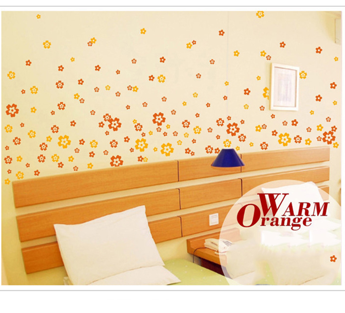 Aliexpress.com : Buy 108 small flowers+6 butterflies Colorful Wall ...