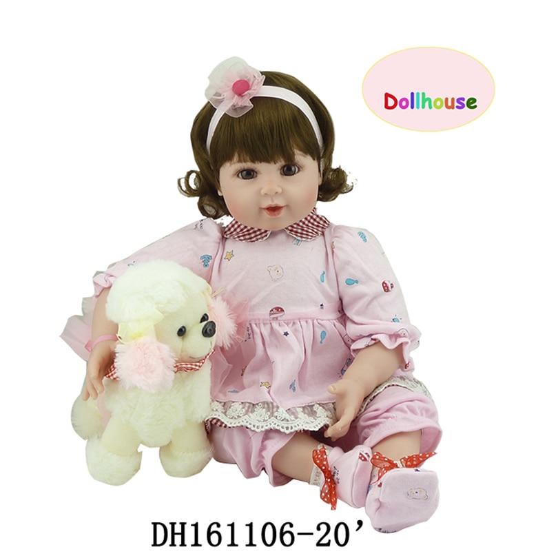 50cm Babies Soft Cotton Doll Gifts for Children Reborn Fashion Cute Dolls Birthday Present High Quality of Dolls Cute