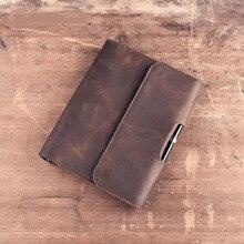 Lữ Khách Của DIY Sổ Tay Vintage A5 Da Thật Chính Hãng Da Nhật Ký Mini Lập Kế Hoạch Notepad Da Bò Nhật Ký Xoắn Ốc Rời Lá Tạp Chí BJB04
