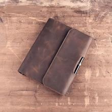 S viaggiatore Notebook FAI DA TE Vintage A5 Diario di Cuoio Genuino Mini Planner Notepad Pelle Bovina Diario A Spirale Sciolto Foglia Ufficiale BJB04