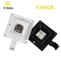4PCS PACK 6 LED Solar Lamp Garden Light Outdoor Street Lighting LED Solar Light Eaves Lamps