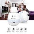 AGM Светодиодный лампочки Wi-Fi Камера Fisheye 960 P Беспроводной панорамная Домашняя безопасность CCTV IP Камера 360 градусов Ночное видение лампа E27