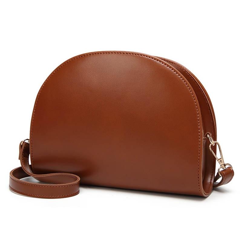 Frauen Schulter Tasche PU Leder Zipper Halbkreis Handtasche Einfache Casual Messenger Taschen Geschenk Beliebte