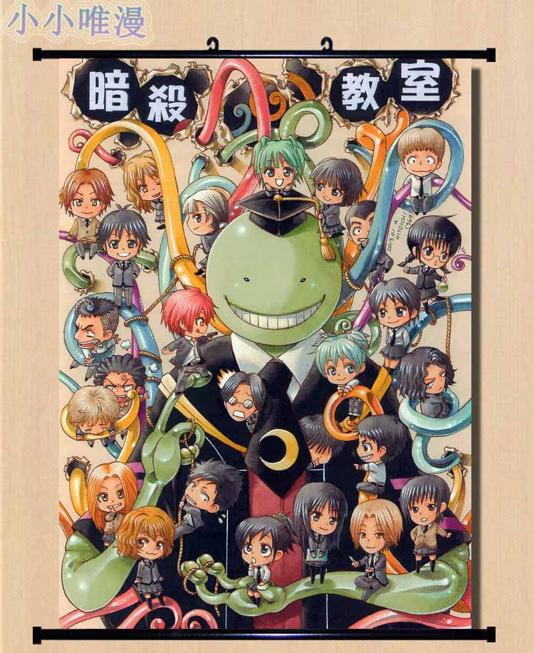 Ansatsu Kyoushitsu Assassination Classroom Anime Wall Poster Scroll Room Decor